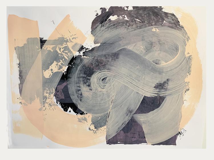 'floral and abstract1', 2020, ett konstverk av Eva Hjelte