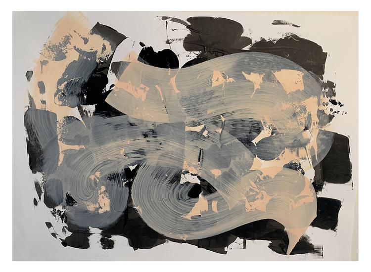'floral and abstract2', 2020, ett konstverk av Eva Hjelte