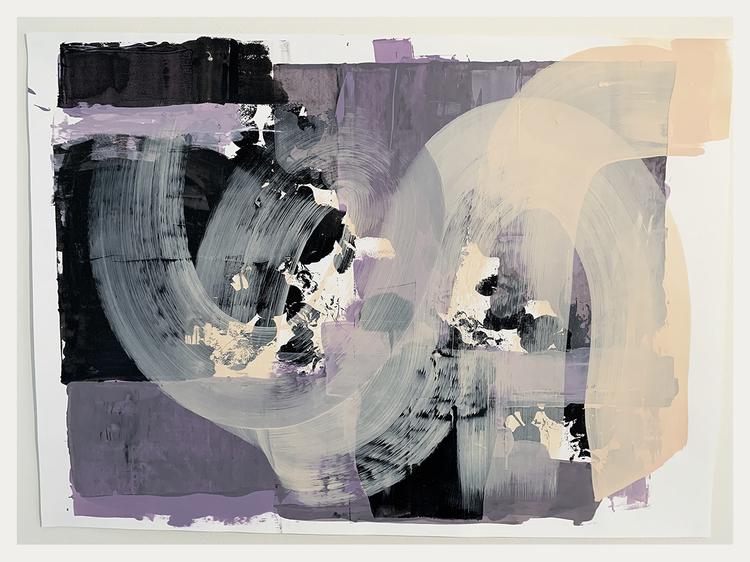 'floral and abstract6', 2020, ett konstverk av Eva Hjelte