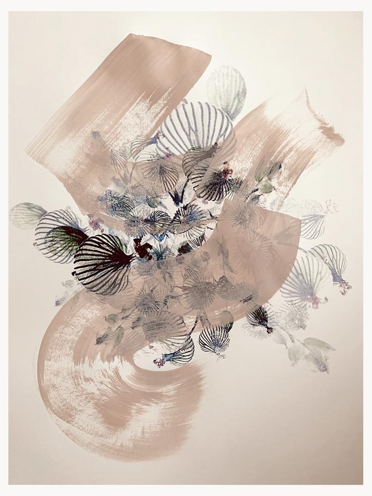 'floral4', 2020, ett konstverk av Eva Hjelte