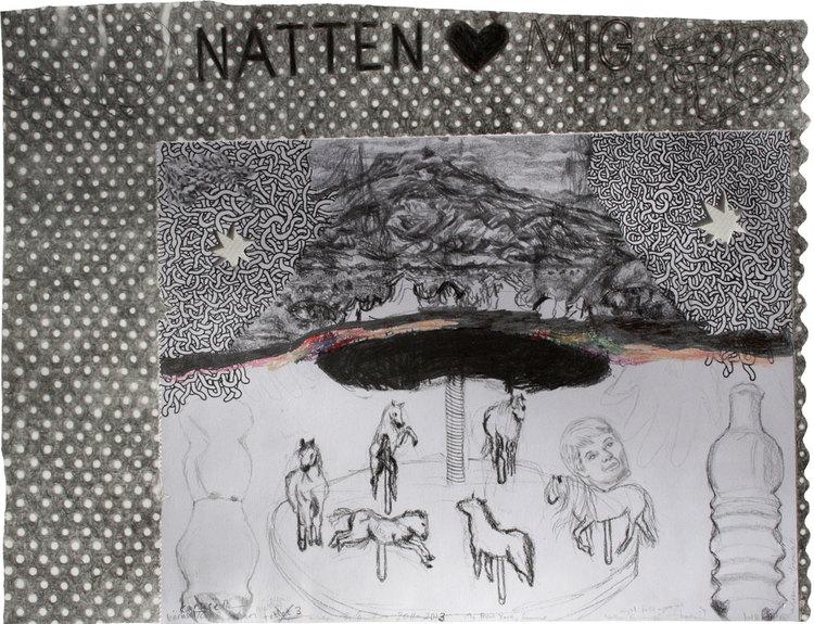 'Natten faller på (night falls upon us)', 2013, ett konstverk av Terese Bolander