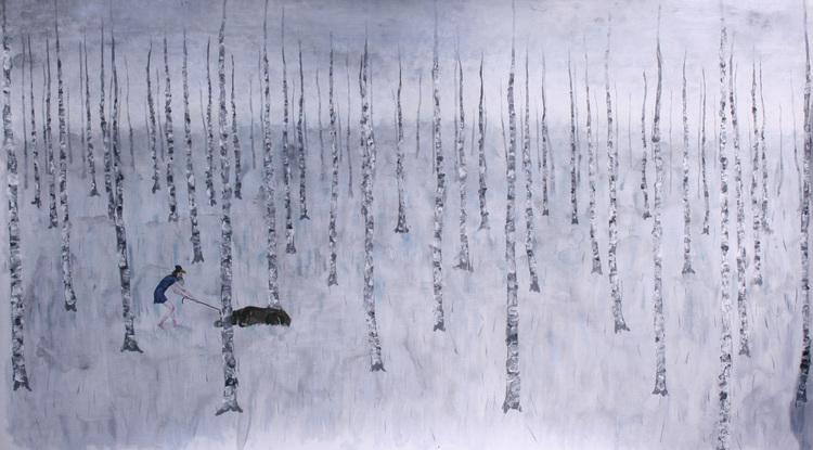 'Björnen sover', 2017, ett konstverk av Clara Lundgren