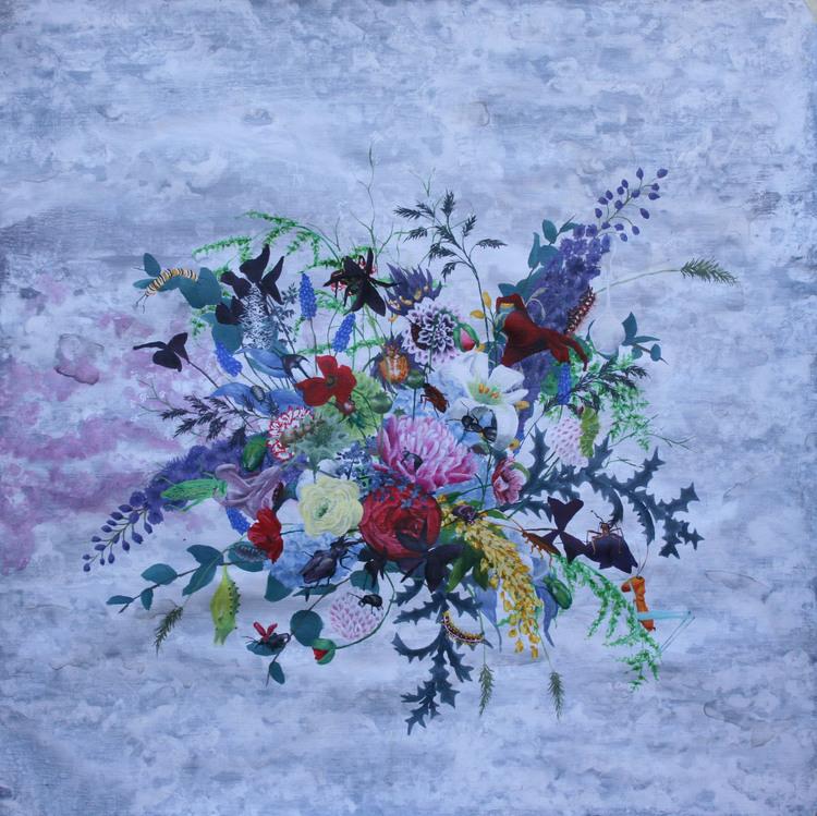 'Blomsekt', 2017, ett konstverk av Clara Lundgren