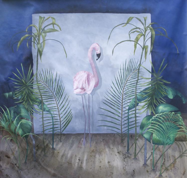 'Lånta Fjädrar', 2017, ett konstverk av Clara Lundgren