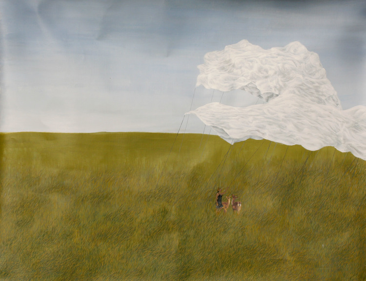 'Molndrake', 2017, ett konstverk av Clara Lundgren