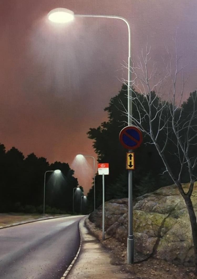 'Busshållplatsen', 2017, ett konstverk av Anette Björk Swensson