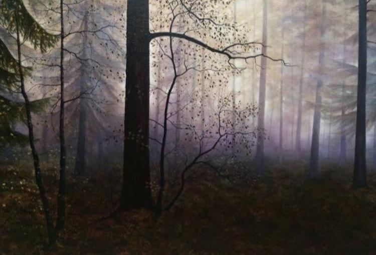 'Skogen', 2017, ett konstverk av Anette Björk Swensson