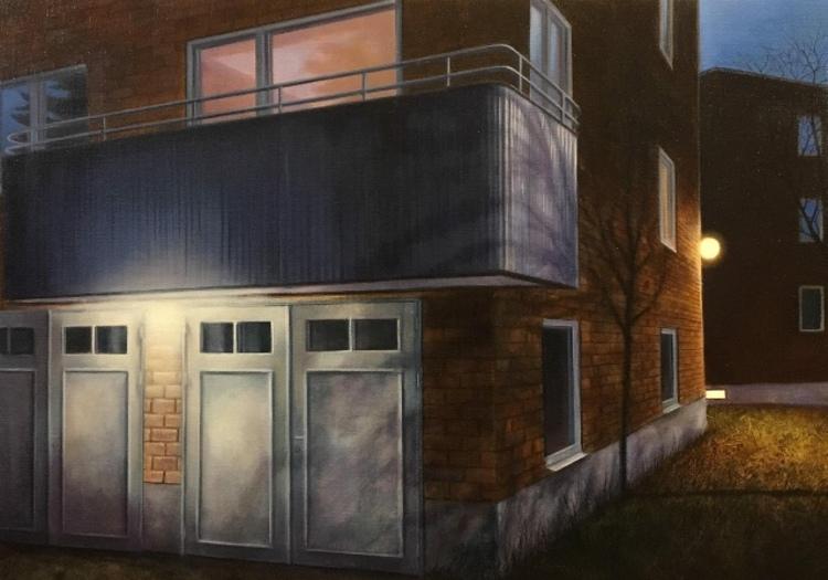 'Grannens balkong', 2017, ett konstverk av Anette Björk Swensson
