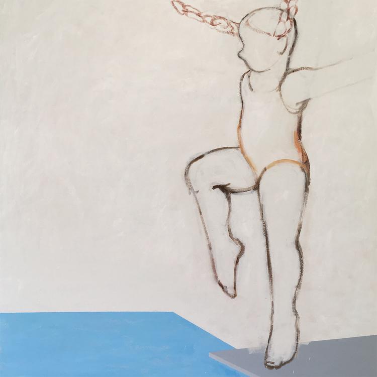 'Avstamp', 2018, ett konstverk av Eva Olsson