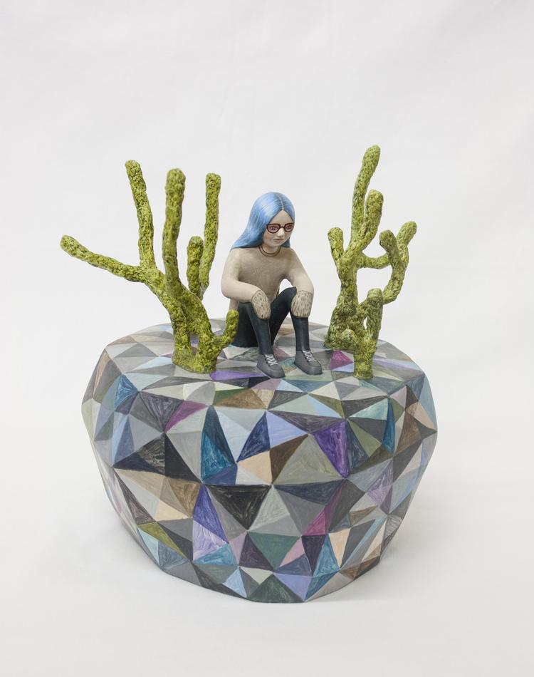 ' Från skymning till gryning', 2017, ett konstverk av Sara Nilsson