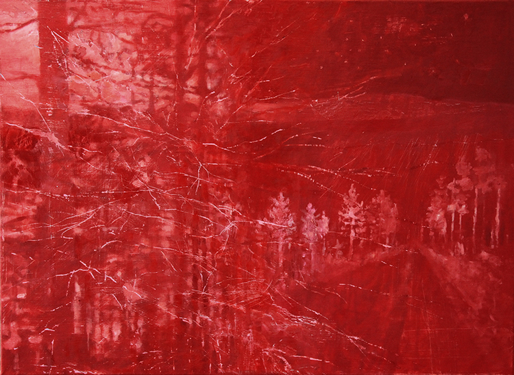'Skogsväg', 2019, ett konstverk av Tomas Gustavsson