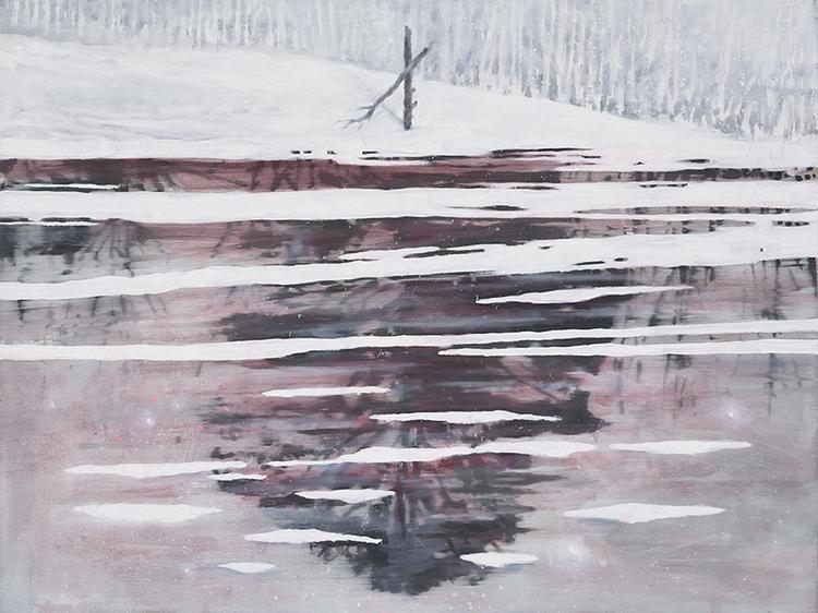 'Tjärn', 2019, ett konstverk av Tomas Gustavsson