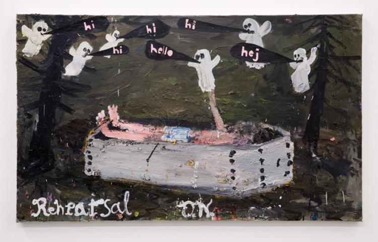 'Rehearsal', 2014, ett konstverk av Oskar Nilsson