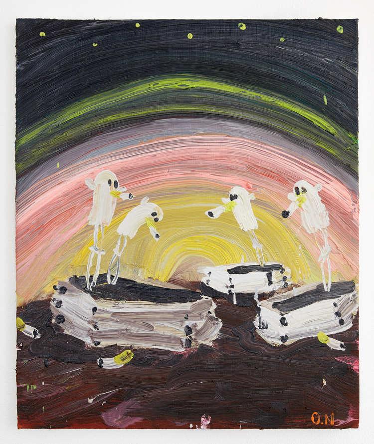'Many ghosts in different coffins doing different things', 2017, ett konstverk av Oskar Nilsson