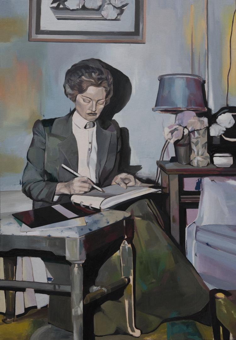 'Notebook', 2017, ett konstverk av Alice Herbst