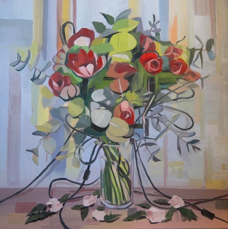 'Cable Flowers 2', 2017, ett konstverk av Alice Herbst