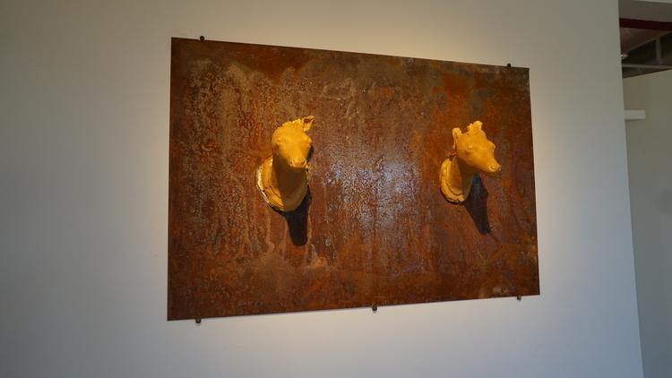 'Bakhåll', 2019, ett konstverk av Mattias Bäcklin