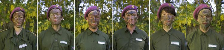 'P18/Q - The Queer Company - Camouflage portraits', 2017, ett konstverk av Maria Norrman