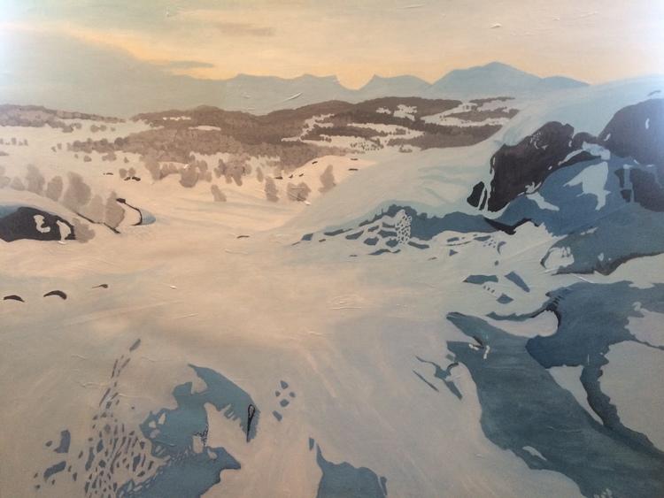 'Koukkel mot Lapporten vinter', 2015, ett konstverk av Charlotta Rosengren