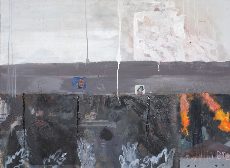 'Burning hell och Tijuana Brass', 2019, ett konstverk av Märta König
