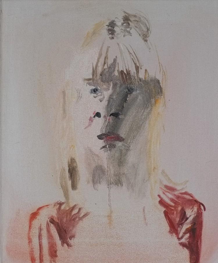 'Porträtt av en flicka', 2018, ett konstverk av Märta König