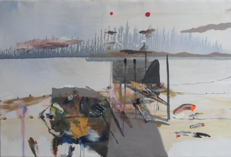 'Dubbel soluppgång', 2018, ett konstverk av Märta König