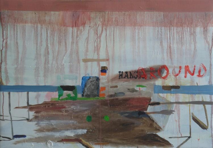 'Hangaround', 2018, ett konstverk av Märta König