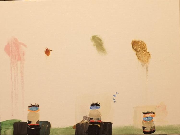 'Burkar ', 2020, ett konstverk av Märta König