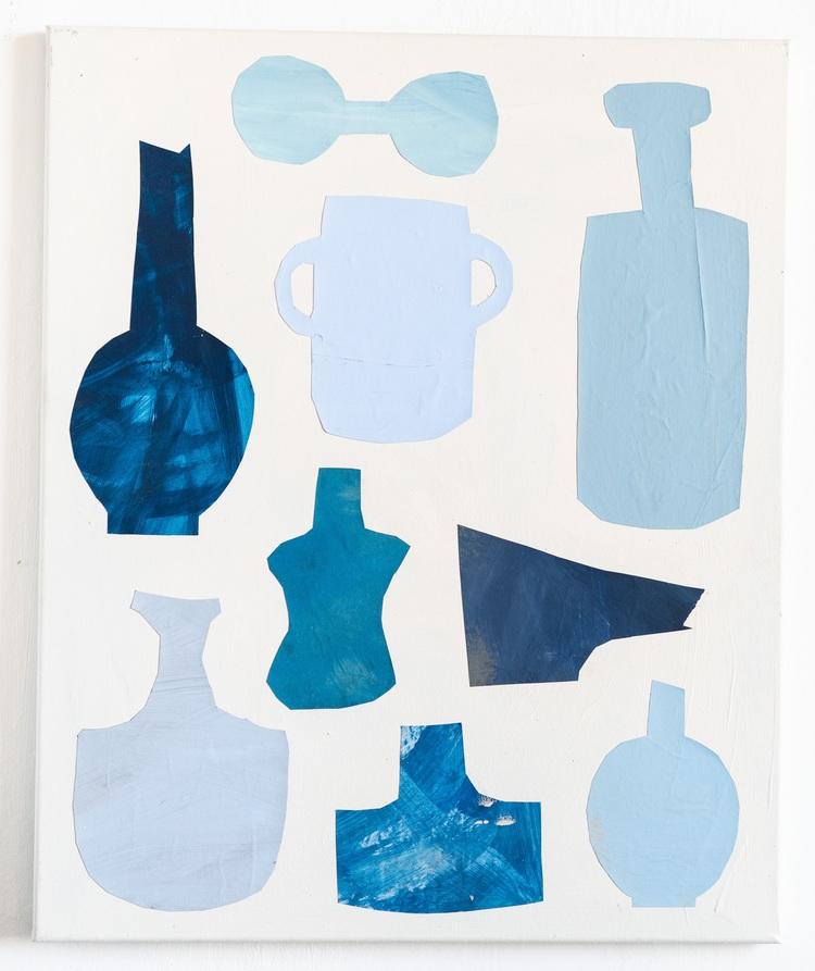 'Le bleu', 2019, ett konstverk av Emilia Ilke