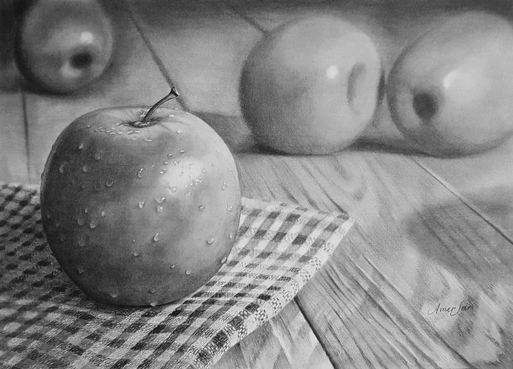 'Apples', 2017, ett konstverk av Amer Sari