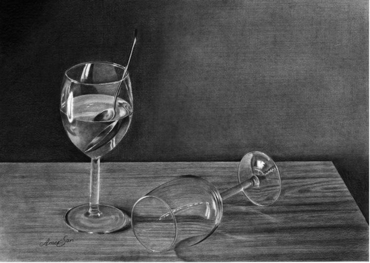 'Glasses', 2017, ett konstverk av Amer Sari