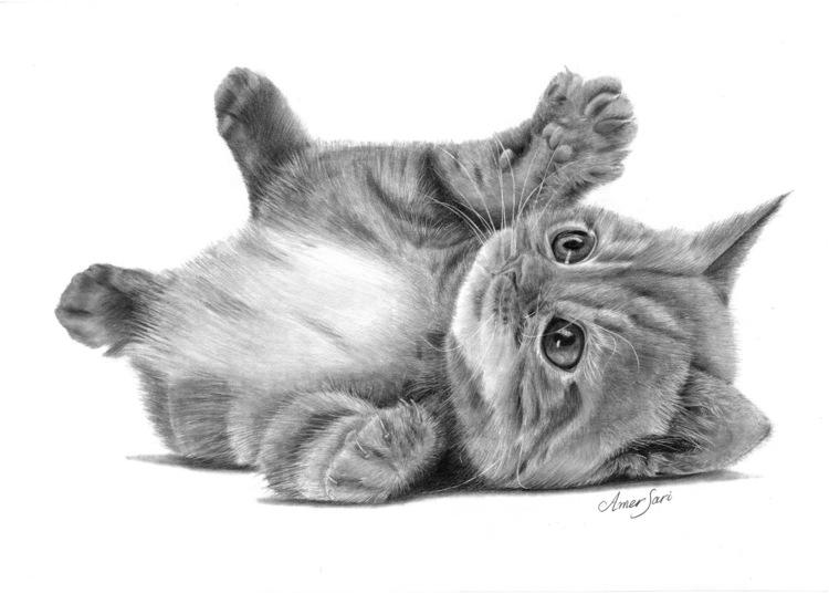 'Kitten', 2017, ett konstverk av Amer Sari
