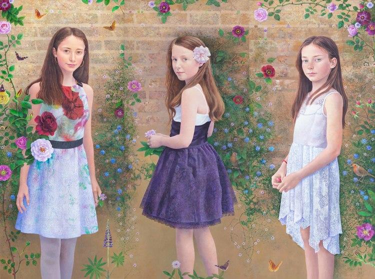 'Flowers of the Garden', 2019, ett konstverk av Dorina Minerva Mocan