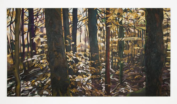 'The coloured forest in Maine', 2012, ett konstverk av Erla S. Haraldsdóttir