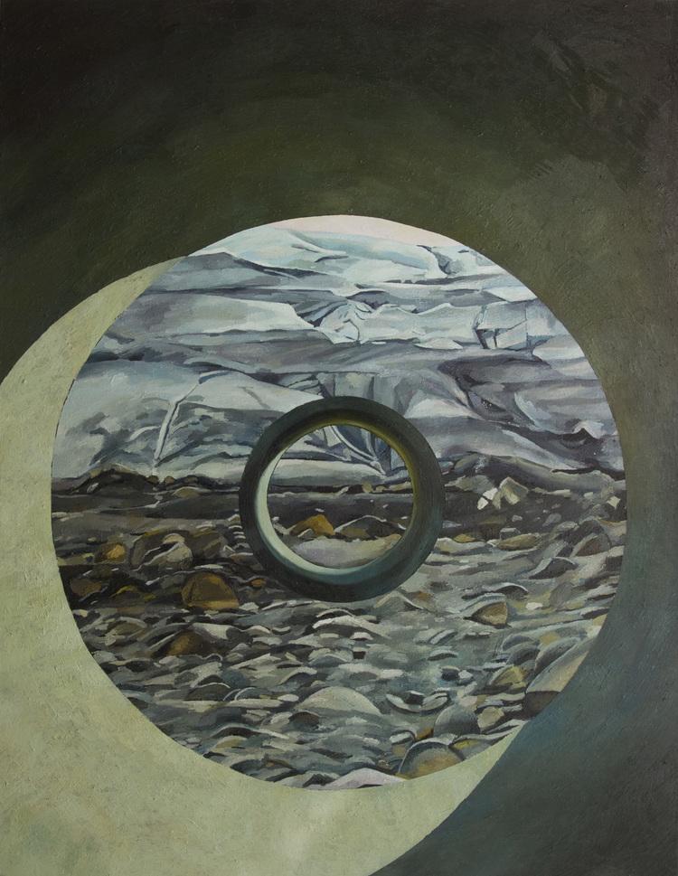 'Myrdalsjökull framed by a tunnel', 2014, ett konstverk av Erla S. Haraldsdóttir