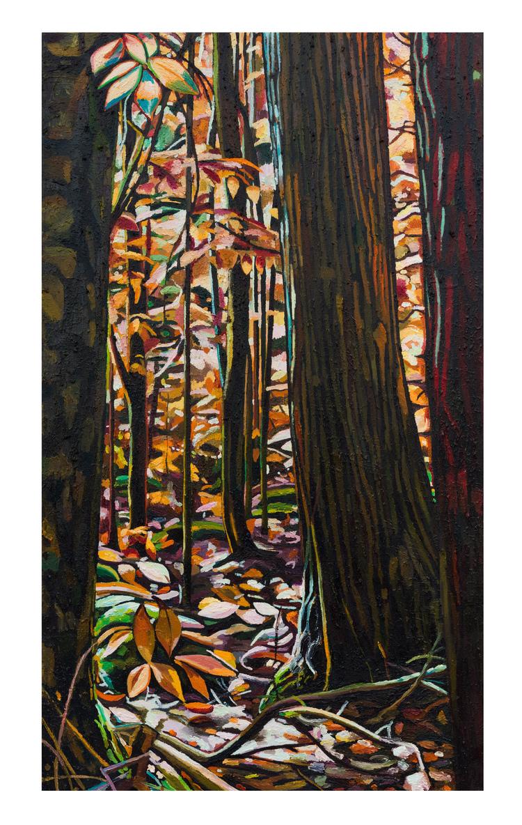 'The coloured forest (Third day)', 2017, ett konstverk av Erla S. Haraldsdóttir