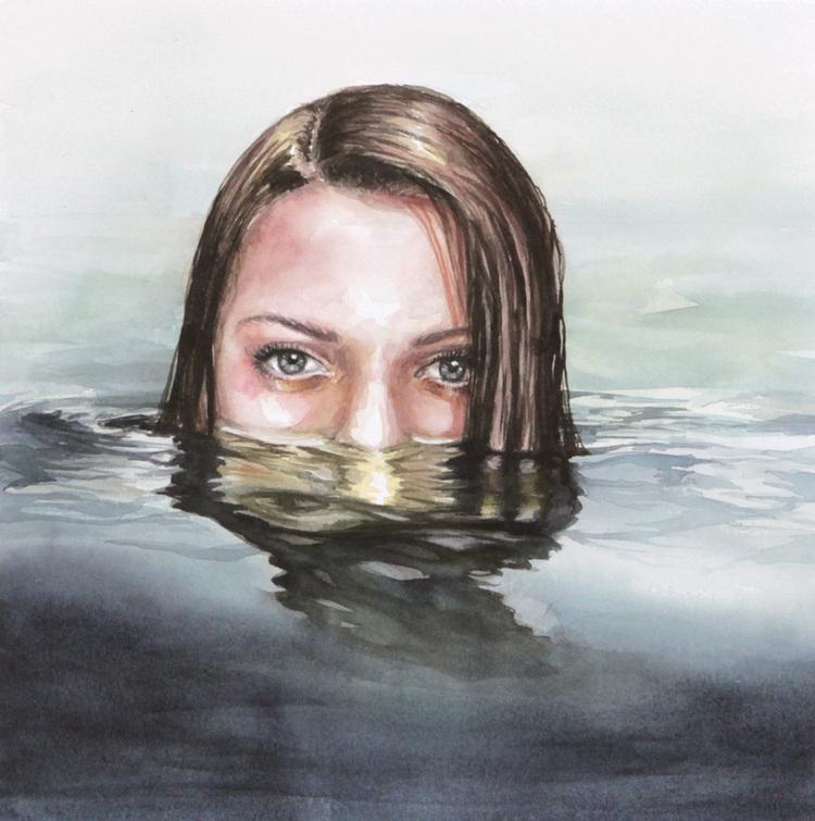 'The Lake', 2017, ett konstverk av Åsa Link