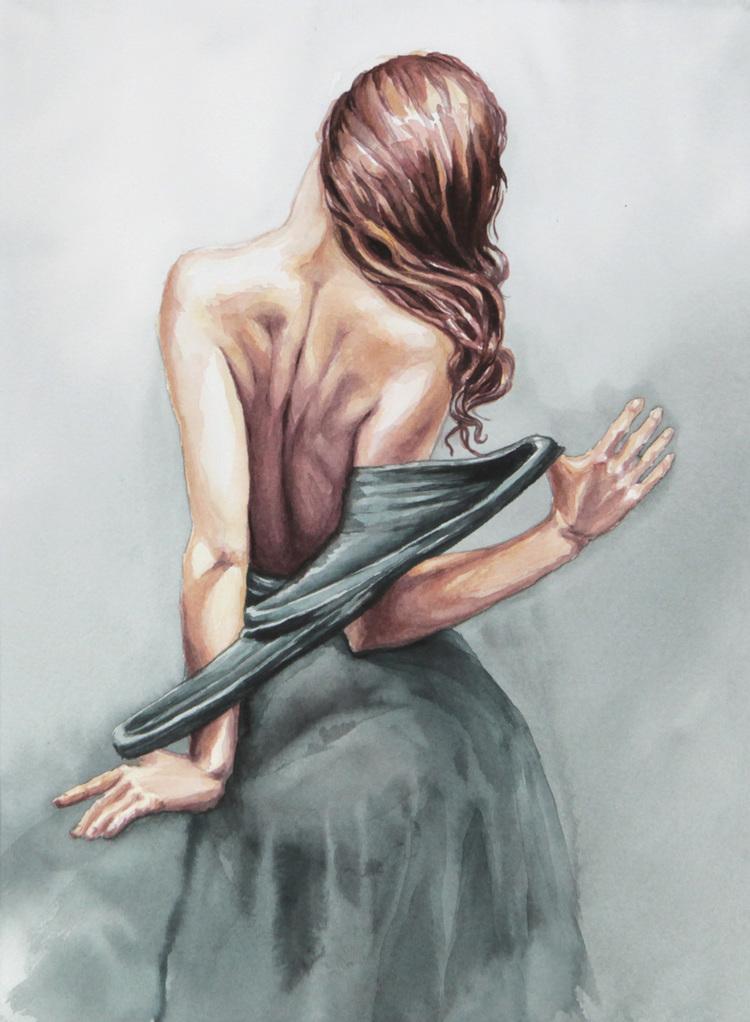 'Backpiece', 2017, ett konstverk av Åsa Link