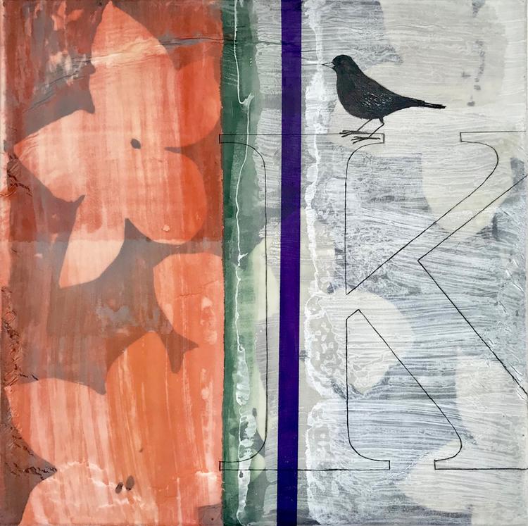'K Konst,Kärlek Koltrast K', 2018, ett konstverk av Jet-te L Ranning