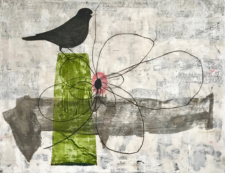 'Building a Nest', 2018, ett konstverk av Jet-te L Ranning