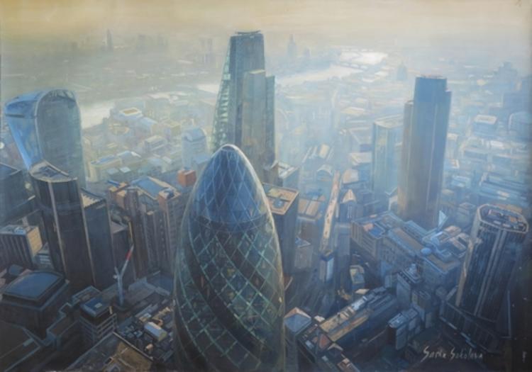 'London', 2015, ett konstverk av Sasha Sokolova