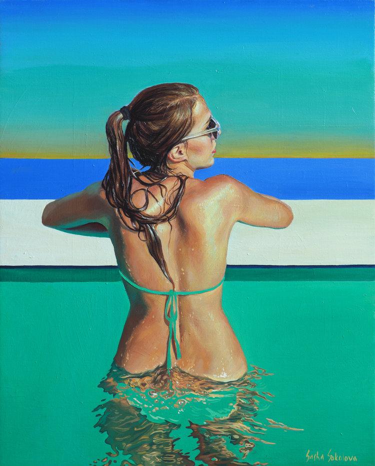 'Splash 2', 2019, ett konstverk av Sasha Sokolova
