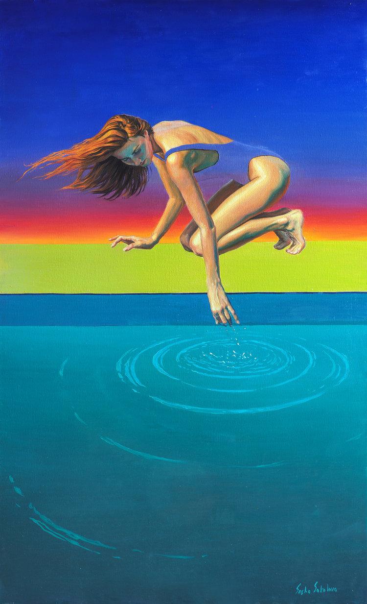 'Splash 6', 2019, ett konstverk av Sasha Sokolova
