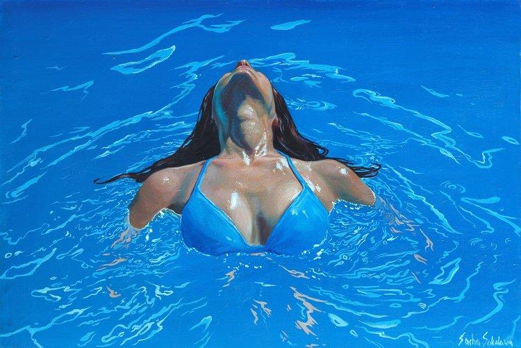 'Splash 13', 2019, ett konstverk av Sasha Sokolova