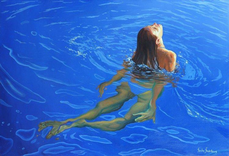 'Splash 7', 2019, ett konstverk av Sasha Sokolova