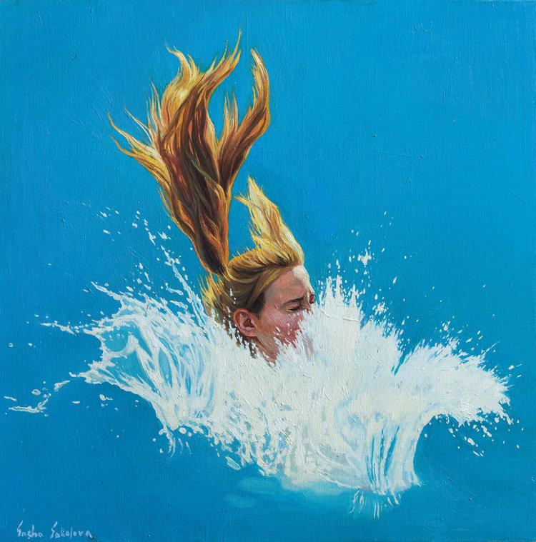 'Pool 14', 2019, ett konstverk av Sasha Sokolova