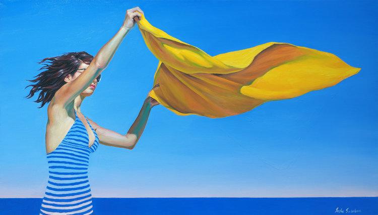 'Splash 5', 2019, ett konstverk av Sasha Sokolova