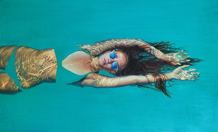 'Splash 3', 2019, ett konstverk av Sasha Sokolova