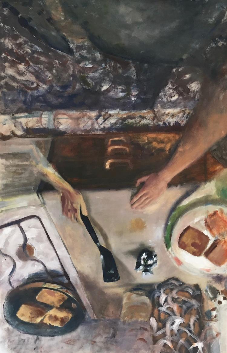 'Frukostsvindel', 2017, ett konstverk av Victoria West