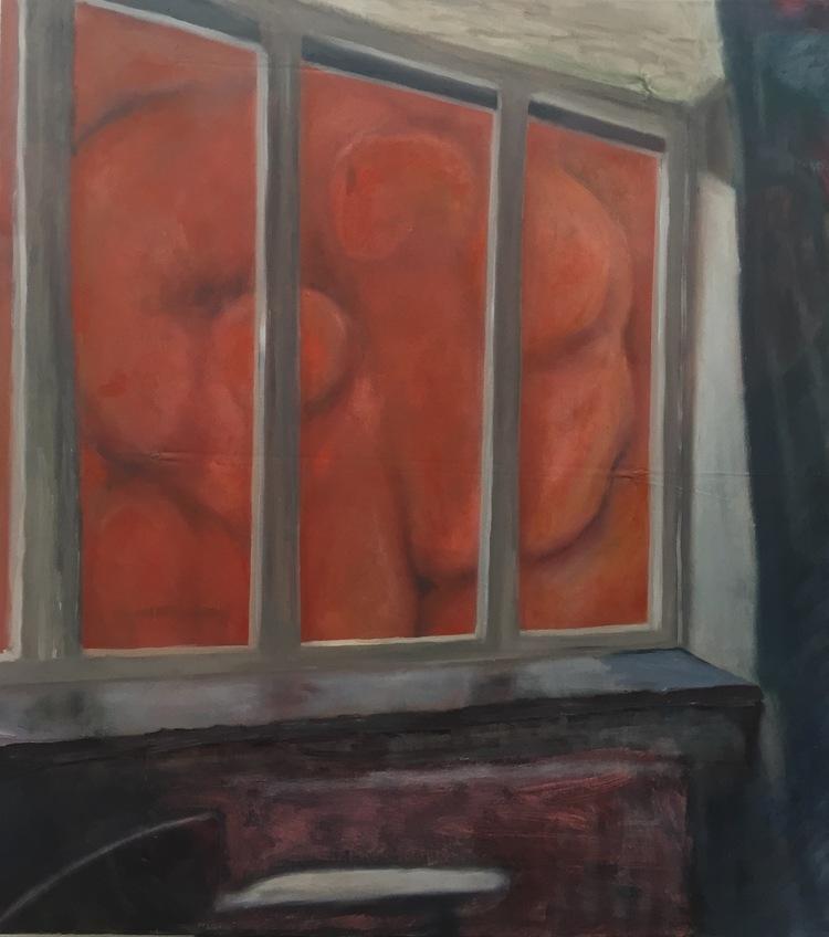 'Red Window', 2015, ett konstverk av Victoria West